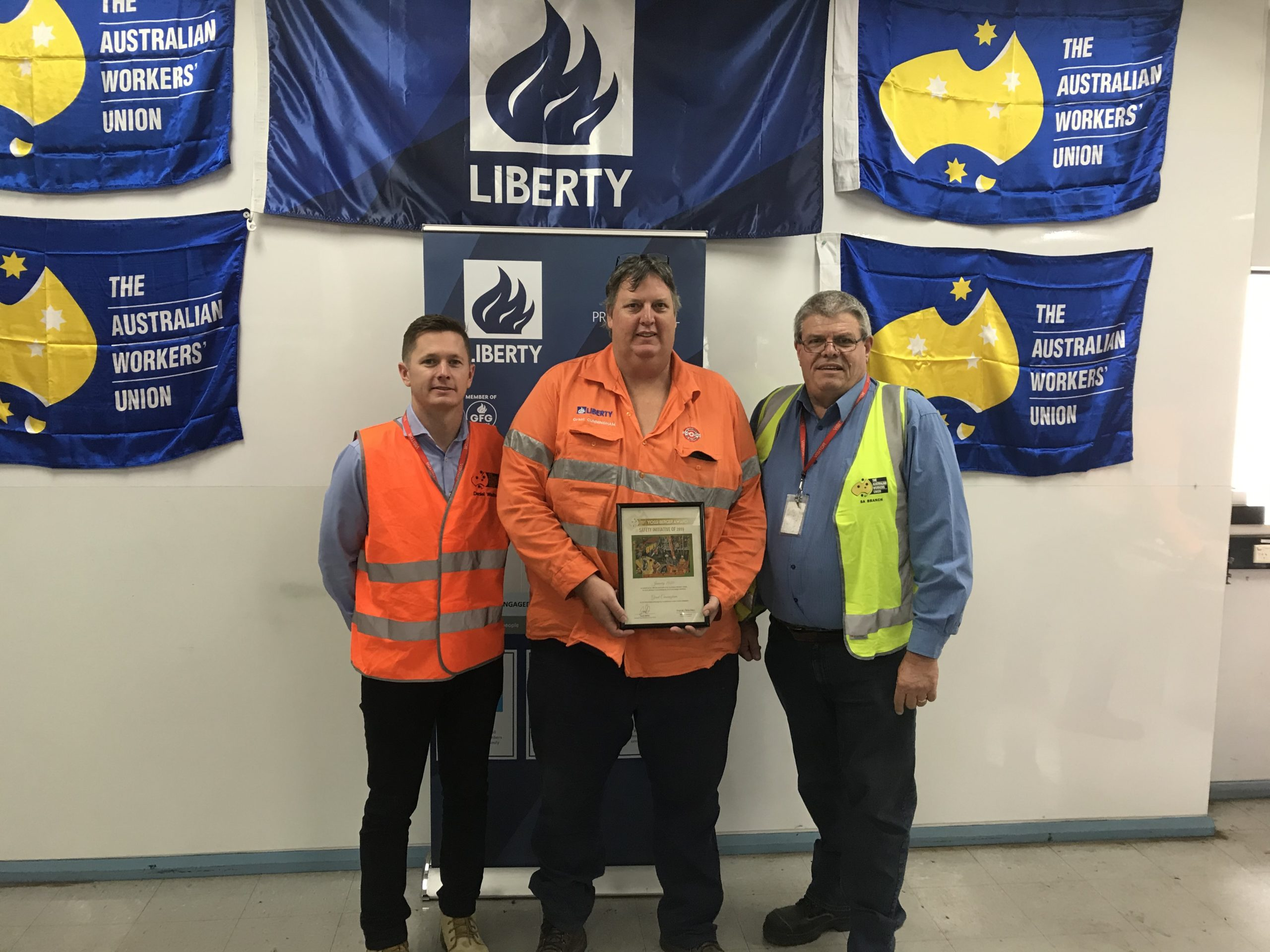 Grant Cunningham Wins First AWU Yossi Berger Award